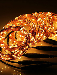 cheap -10m String Lights 100 LEDs Warm White / RGB / White Waterproof / New Design / Party 12 V 5pcs