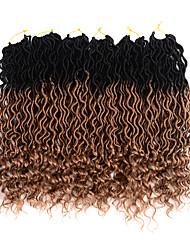 Недорогие -Омбре Уход за волосами Спиральные плетенки Кудрявый Искусственные волосы 20 дюймы Наращивание волос плетение волос хохол Вино 6 предметов Классический Легко для того чтобы снести 100