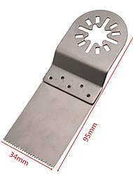 abordables -10pcs 34mm couleur argent en acier inoxydable droite lame de scie définie 3.4 * 9.5cm