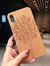 Недорогие -чехол для яблока iphone xs / iphone xr / iphone xs max / 7 8 plus / 6splus / 6s с тиснением / рисунок на задней крышке черепа / дерево / цветок деревянный