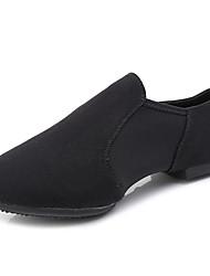 cheap -Women's Dance Shoes Canvas Jazz Shoes Flat Flat Heel Black