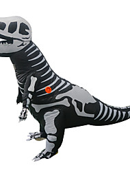 cheap -Dragon Dinosaur T-Rex Cosplay Costume Inflatable Costume Adults' Men's Halloween Halloween Festival / Holiday Rayon / Polyester Black Men's Women's Carnival Costumes / Leotard / Onesie / Air Blower