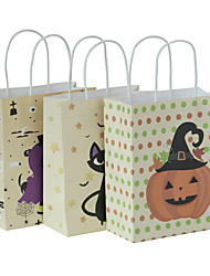 cheap -irregular Card Paper Favor Holder with Split Joint Favor Bags - 3 Pieces