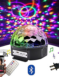 cheap -LOENDE 9 color LED Bluetooth Speaker Disco Ball Light with Mp3 Player Prom Laser Party Light 18W DJ Stage Light Laser Projection Lamp
