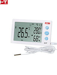 cheap -UNI-T Digital Thermometer A12T Hygrometer Temperature Humidity Meter Alarm Clock Weather Station Indoor Outdoor Instrument