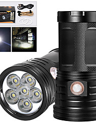 cheap -XM6 LED Flashlights / Torch Waterproof 4800 lm LED LED 6 Emitters Manual 3 Mode with USB Cable Waterproof Professional Anti-Shock Easy Carrying Durable Camping / Hiking / Caving Police / Military