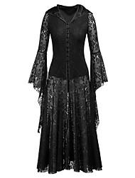 cheap -Women's Halloween Maxi Swing Dress - Solid Colored Black S M L XL