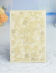 "cheap -Wrap & Pocket Wedding Invitations 30pcs - Invitation Cards / Thank You Cards / Response Cards Artistic Style / Modern Style / Floral Style Pearl Paper 5""×7 ¼"" (12.7*18.4cm)"