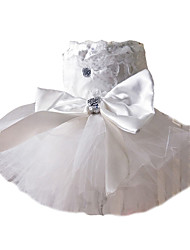 cheap -Dog Dress Dog Clothes Costume Pearl Cosplay Wedding XS S M L XL