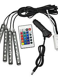 cheap -RGB LED Decoration Footlight Remote Control Colorful Music Rhythm Lamp Bar