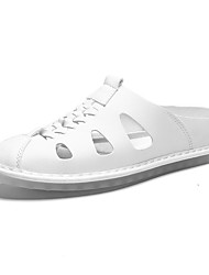 cheap -Men's Comfort Shoes PU Summer Sandals Black / White / Yellow / Outdoor