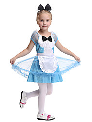 cheap -Maid Costume Cosplay Costume Kid's Boys' Halloween Halloween Festival / Holiday Spandex Polyester / Polyamide Blue Carnival Costumes
