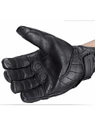 abordables -homme écran gants de moto touchable hiver portant des gants en cuir style automne et hiver sans trous