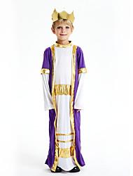 cheap -Arabian Cosplay Costume Outfits Masquerade Kid's Boys' Cosplay Halloween Halloween Festival / Holiday Polyster Purple Carnival Costumes / Leotard / Onesie / Headwear