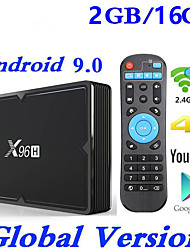 Недорогие -x96h Smart TV Box Android 9.0 2 ГБ 16 ГБ Allwinner H603 Wi-Fi 1080 P 4 К Netflix YouTube установить приставку