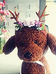 cheap -Pet Headdress Christmas Antler Pet Decorative Hat