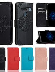 Недорогие -Чехол для LG G8 K40 V50 держатель карты с подставкой флип чехлы для всего тела цветок искусственная кожа G7 / G7 thinq Stylo 4 / Q стилус V40 K50 K10 2018 Stylo 5
