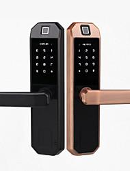 cheap -Factory OEM MN-6080 Zinc Alloy lock / Fingerprint Lock / Intelligent Lock Smart Home Security Android System Fingerprint unlocking / Password unlocking Home / Office / Hotel Wooden Door (Unlocking