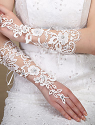 cheap -Lace Elbow Length Glove Lace / Gloves With Trim