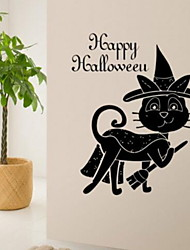 cheap -Halloween Decorations Wall Stickers Holiday Wall Stickers Decorative Wall Stickers, PVC Home Decoration Wall Decal Wall Decoration 1pc