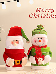 cheap -Gifts / Gift Bags / Christmas Ornaments Holiday / Family Cloth / Flannelette Cartoon / Party Christmas Decoration
