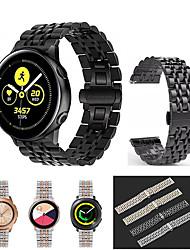 cheap -For Samsung Gear Sport /S2 classic /Galaxy watch 42mm /Galaxy watch active /Galaxy watch active 2 Stainless Steel Watch Band Strap Bracelet