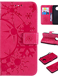 cheap -Case For Motorola MOTO G6 / Moto G6 Plus Wallet / Card Holder / Flip Full Body Cases Scenery PU Leather / TPU