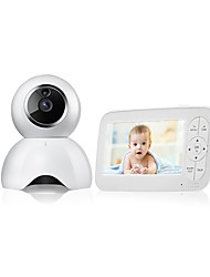 cheap -1MP Baby Monitor CMOS Night Vision Range 5m Wireless Security Camera  Two Way Audio Remote Viewing Night Vision Motion Detect LCD Display 720P HD Two-Way Audio Temperature Sound Alarm Security