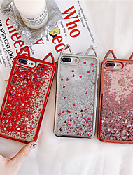 cheap -Case For Apple iPhone XS / iPhone XR / iPhone XS Max Flowing Liquid / Glitter Shine Back Cover Solid Colored TPU
