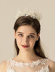 cheap -Chiffon / Imitation Pearl / Alloy Tiaras / Headdress with Floral / Metal 1pc Wedding / Party / Evening Headpiece