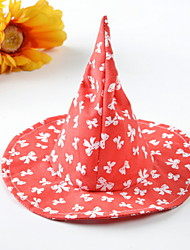 cheap -Dogs Bandanas & Hats Wizard Hat Winter Dog Clothes Black Red Halloween Costume Polyster Geometric Holiday M