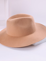 cheap -100% Wool Hats with Solid 1pc Casual / Daily Wear Headpiece