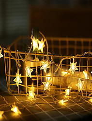 cheap -6M 40 LEDs Star Fairy Garland String Lights Novelty For New Year Christmas Wedding Home Indoor Decoration Battery Powered