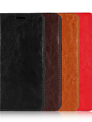 cheap -Case For Apple iPhone 11 / iPhone 11 Pro / iPhone 11 Pro Max Wallet / Card Holder / Flip Full Body Cases Solid Colored Genuine Leather