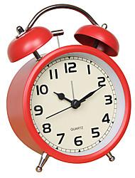 Недорогие -круглосуточная стойка&усилитель; полочные часы / настольные часы современный современный пластик&усилитель; металл / стекло / пластик круглый