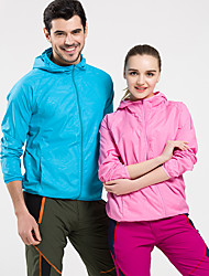 cheap -Men's Women's Hiking Windbreaker Outdoor Portable Breathable Top Climbing Camping / Hiking / Caving Traveling Black / White / Sky Blue / Fuchsia / Orange