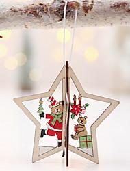 cheap -Christmas Ornaments Holiday Wooden Mini Novelty Christmas Decoration
