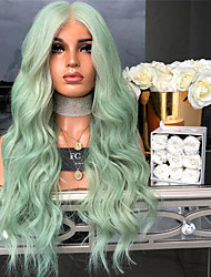 cheap -Synthetic Wig kinky Straight Middle Part Wig Long Green Synthetic Hair 26 inch Women's Women Green
