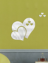 cheap -Hearts Wall Stickers Living Room, Removable Acrylic Home Decoration Wall Decal