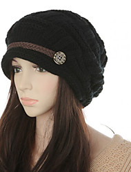 cheap -Women's Party Basic Cute Knitwear Floppy Hat-Color Block Fall Winter Black White Blushing Pink