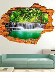 cheap -Decorative Wall Stickers - 3D Wall Stickers Landscape Living Room / Bedroom / Kitchen