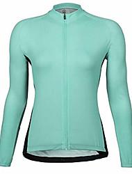 abordables -21Grams Femme Manches Longues Maillot Velo Cyclisme Hiver Toison 100 % Polyester Bleu Roi Rose Cyclisme Maillot Hauts / Top VTT Vélo tout terrain Vélo Route Chaud Résistant aux UV Respirable Des
