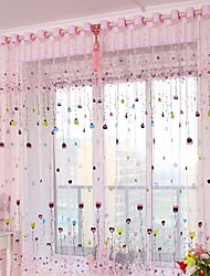 cheap -Sheer One Panel Sheer Living Room   Curtains