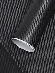 cheap -127x30cm 3D carbon fiber vinyl reel film roll car sticker interior decoration car stickers new