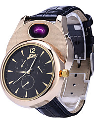 cheap -Men's Sport Watch Japanese Quartz Leather Black / Brown No Chronograph Creative New Design Analog New Arrival Fashion - Black Brown Golden+Black Two Years Battery Life