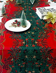 cheap -Casual polyester fibre Square Table Cloth Geometric Christmas Table Decorations