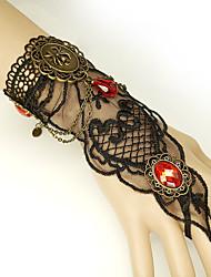 cheap -Women's Red Vintage Bracelet Ring Bracelet / Slave bracelet Earrings / Bracelet Retro Spiders Statement Vintage Trendy Gothic Fashion Resin Bracelet Jewelry Black For Halloween