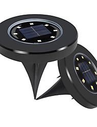 Недорогие -2шт 4 Вт газонные огни / светодиодный уличный свет водонепроницаемый / солнечный / творческий белый 1.2 В наружное освещение / бассейн / подземный свет / двор 8 светодиодных шариков