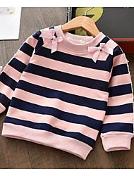 cheap -Kids Girls' Basic Striped Long Sleeve Tee Black