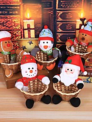 cheap -Merry Christmas Candy Storage Basket Decoration Santa Claus Storage Basket Christmas Candy Storage Basket Decoration